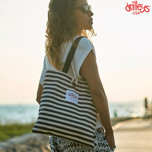 Drilleys Eco Bag Black-Stripe