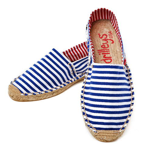 Royal Blue Wide Stripe Espadrille