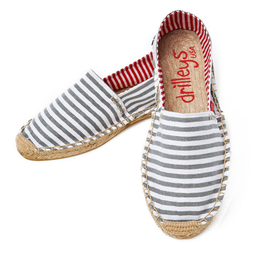 Grey Stripe Espadrille