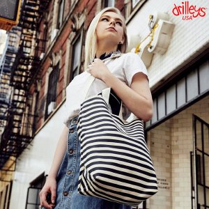Drilleys Eco Cross Bag Black-Stripe