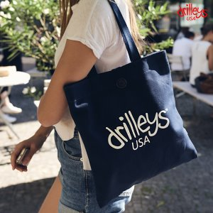 Drilleys Eco Bag Navy White