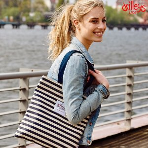 Drilleys Eco Bag Navy-Stripe