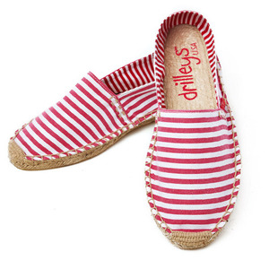 Hot Pink Wide Stripe Espadrille