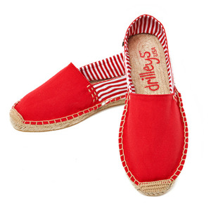 Primary Red Two Tone Espadrille