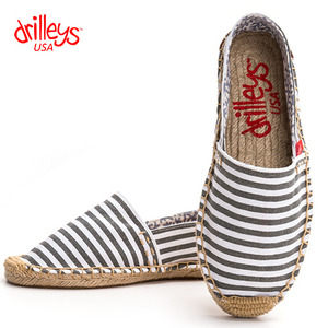 N6 Grey Stripe Espadrille